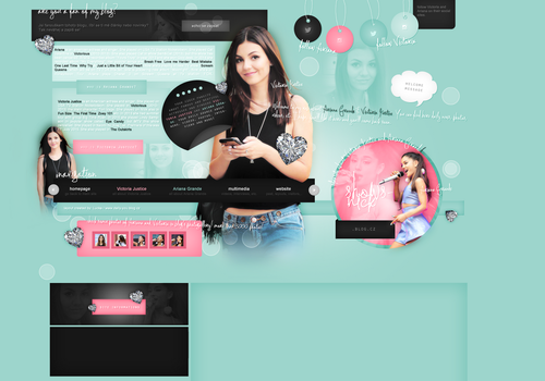 Layout ft. Victoria Justice and Ariana Grande by PixxLussy