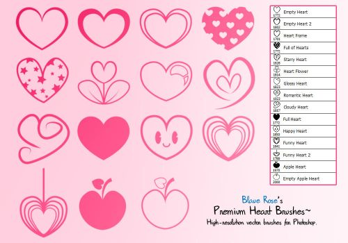 Heart Brushes by Blaue-Rose