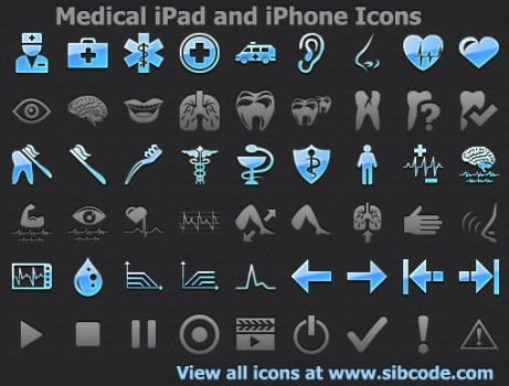 Medical iPad and iPhone Icons 2011.2 by fawkesbonfire