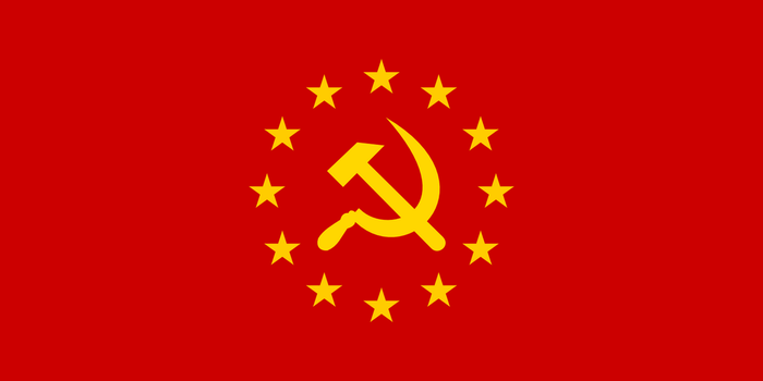 Flag of the Union of European Socialist republics by Jaglion