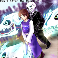 Undertale - Frans Week - Day 5 - After the Barrier by WolfKIce