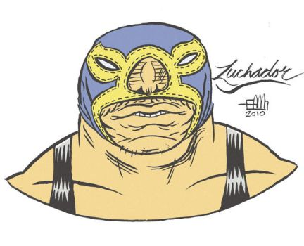 Luchador Design by Andrew-Ross-MacLean