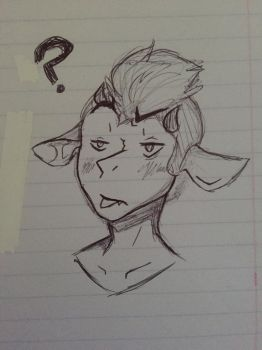 New character pen sketch! by IntenseShipping