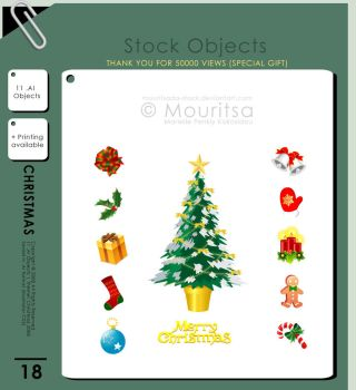 Object Pack - Christmas Presents '08 by MouritsaDA-Stock