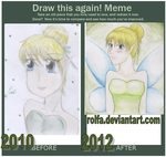Draw this again! Meme: Tinkerbell by Rolfa