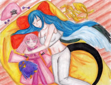 Dizzy and March- Taking a Nap by danceljoy