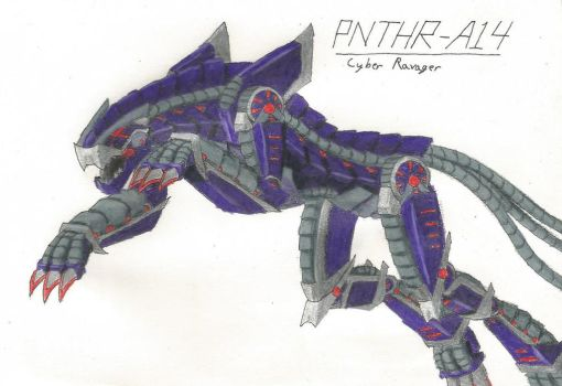PNTHR-A14, Cyber Ravager by TheHiddenElephant