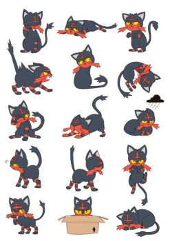 Litten poses/expressions by ButterLux
