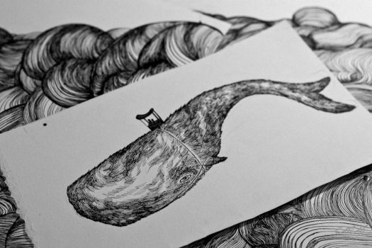 hairy flying whale by emychaoschildren