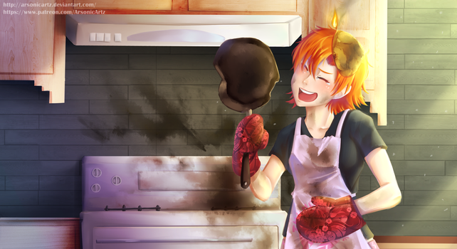 CG Commission- Kitchen Nightmare by ARSONicARTZ