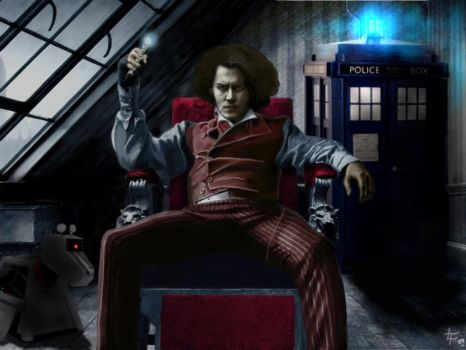 Johnny depp for the next doctor by rocketman28