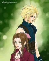Cloud and Aerith by candytuff