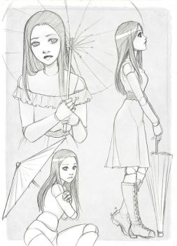 Commission - Eleane character sheet by Moemai