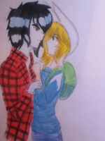Marshall And Fionna by mizzue