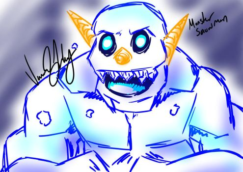Snow Monster (Request) by Vesenia