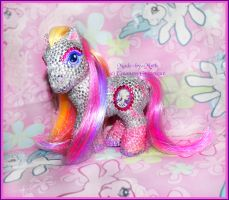 Pink bejeweled - pony by Countess-Grotesque