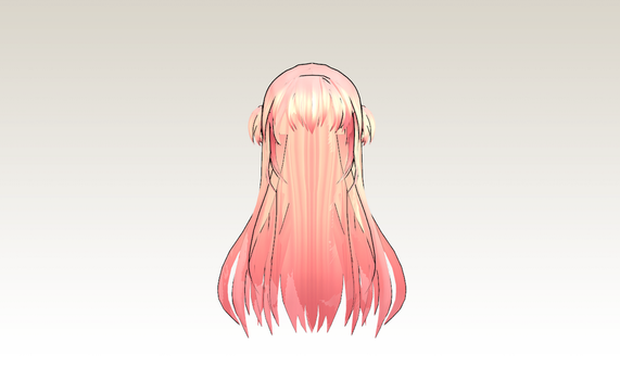 MMD Pretty Girl hair by amiamy111