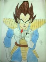 Vegeta - OVER9000 by Icantdrawhands