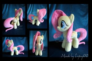 Fluttershy Plush Commission by LeFay00