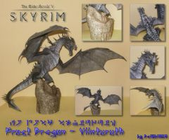 Skyrim - Frost Dragon Papercraft by DaiShiHUN
