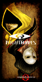 Little Nightmares: Six VS The Lady by AngelKiller666