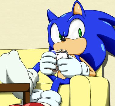 Sonic played iphone. by shoppaaaa