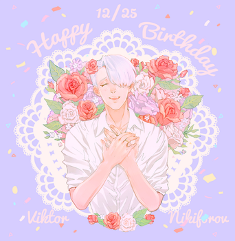 Yuri on Ice-HAPPY BIRTHDAY VIKTOR by kyaptain