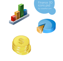 Awesome Finance 3D Icon Set PSD for Free Download  by cssauthor