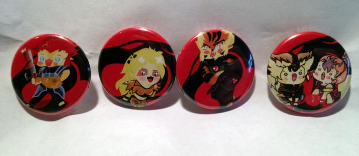 Thunder Cats Buttons by PauAndLoma