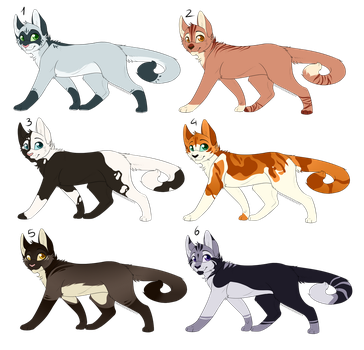 Cat Adoptables [OPEN 3/6] by CrispyCh0colate