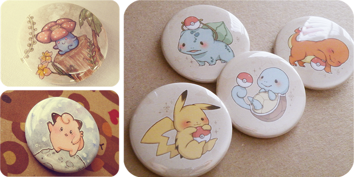 Pokemon Buttons by riingo