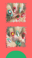 Christmas Manicure Homescreen by MikariStar