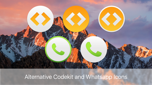 Alternative Codekit and WhatsApp icons by gusbemacbe