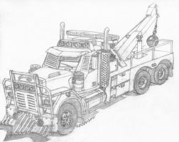 Post Apocalyptic Wrecker by RedSpider2008