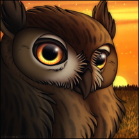 Eagle Owl Icon by Bandarai