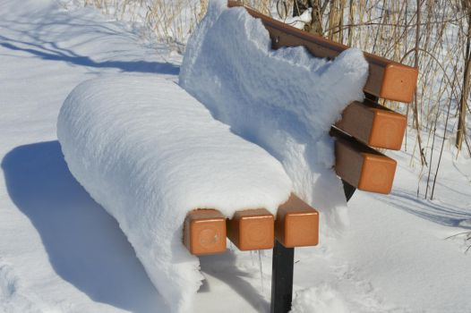 Snow Bench by Ciao-Arrivederci