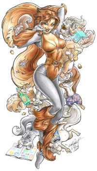 Squirrel Girl by andypriceart