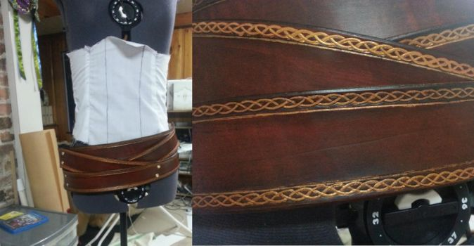 Lady Loki cosplay - completed belts by lady-skye