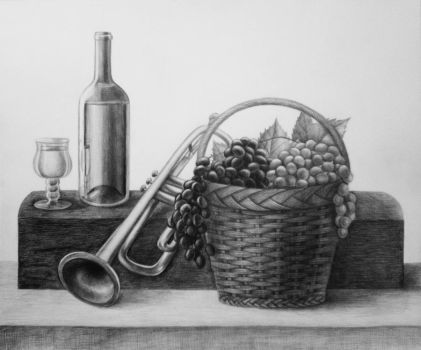 Still Life 2nd Wine by diana-0421