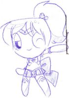 Sailor Babe PPG_Sketch by StarValerian