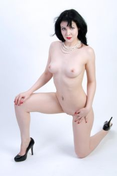 McKenzie Nude With Pearls No.2 by Snapfoto