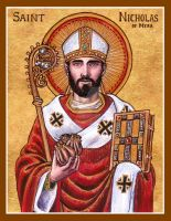 St. Nicholas of Myra icon by Theophilia