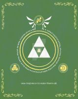 LOZ LOTR Lord of the Triforce Print by Enlightenup23