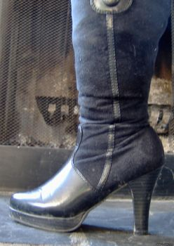 Black Boot 1 by Coin-Toss-Stock