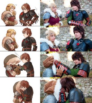 Hiccup and Astrid FANART / COSPLAY by AlexanDrake89