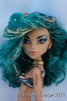Monster High Nefera beach custom portrait by phairee004