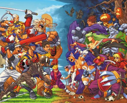 Rival Schools Vs. Darkstalkers by diablo2003