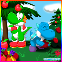 Yoshi Harvest Collab by Bowser2Queen