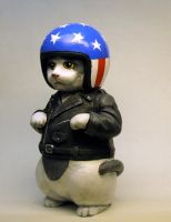Biker Kitty Bank-Kitty Meow version by Switchum