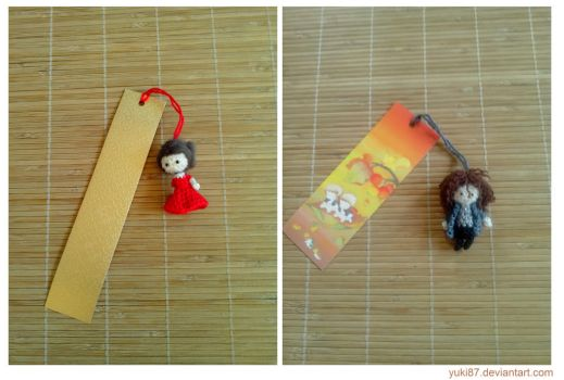 Gift: Bookmark Claire and Jamie by Yuki87
